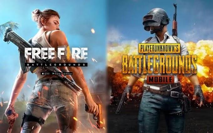 FREE FIRE vs PUBG - battle royal game / FF vs pubg