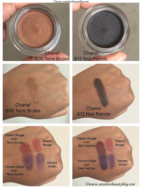 Chanel Ombre Premiere 806 Terre brulee and 812 Noir Petrole Swatches