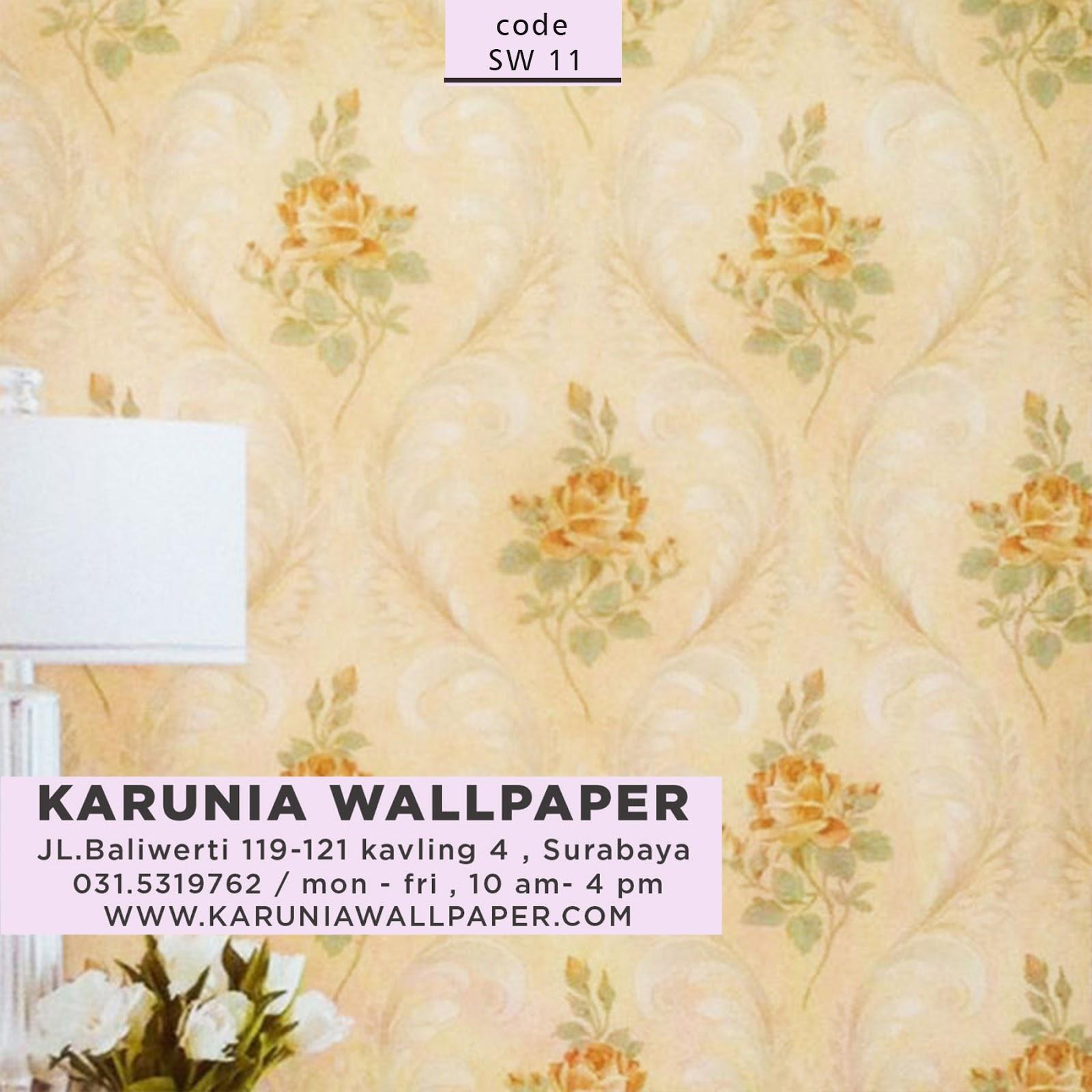 wallpaper dinding untuk dekorasi rumah ala shabby chic
