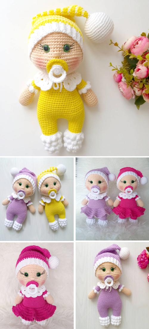 Amigurumi Doll Pacifier Baby - Free Crochet Pattern