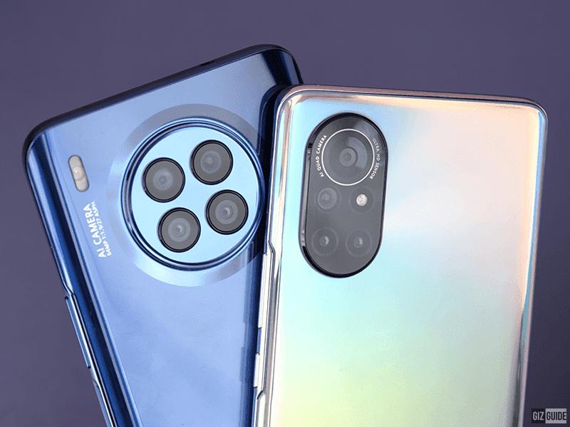The Huawei nova 8i and nova 8 cameras and back design