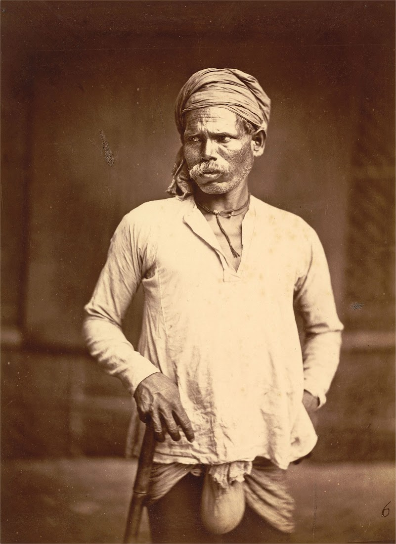 Portrait of a Man of the Dom Ethnic Group from Eastern bengal - 1860's