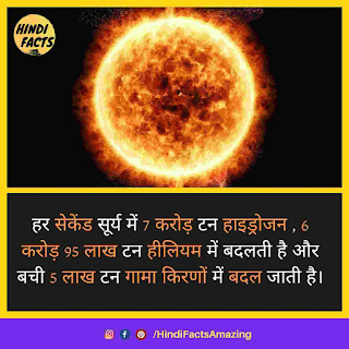 sun facts in hindi