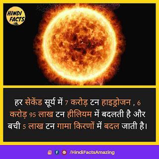 sun facts in hindi