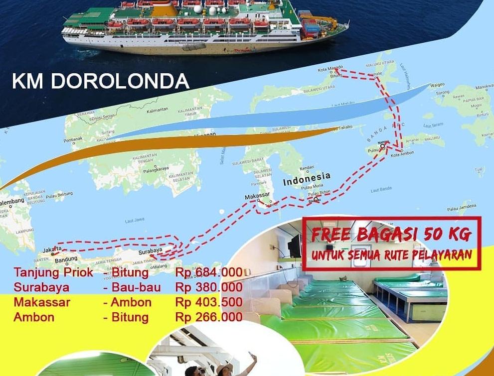 Jadwal Kapal Pelni Km Dorolonda Bulan Oktober 2019 Rute