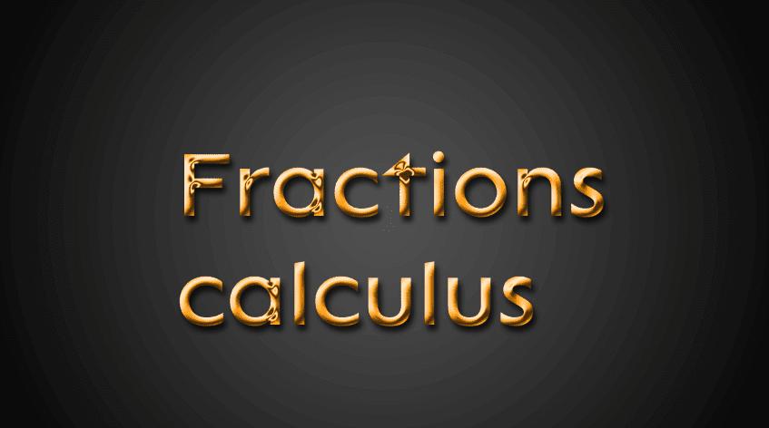 fractions-calculus