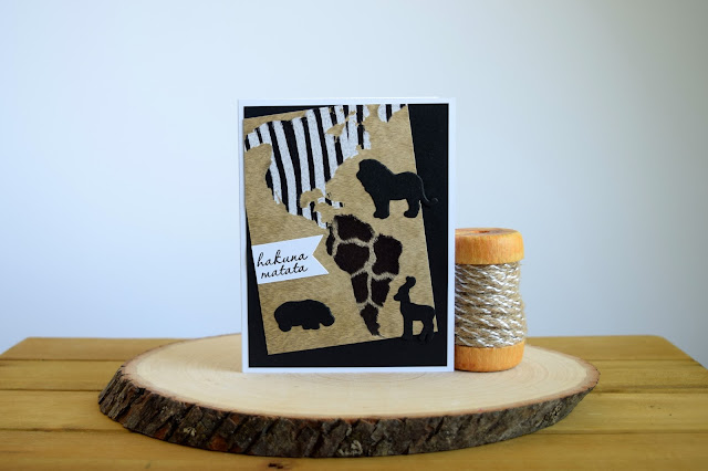 Safari Themed Card by Jess Crafts using Hero Arts My Monthly Hero June Kit