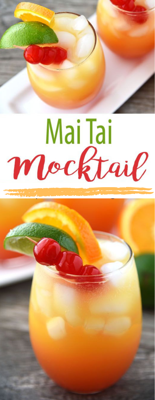 MAI TAI MOCKTAIL #drink #mocktail