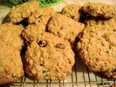 Healthy Cranberry Oatmeal Cookies, Becky Cooks Lightly, 79 calories