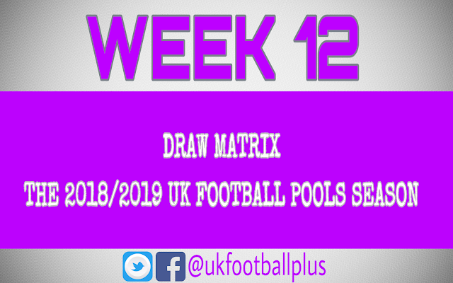 Wk12 UK football pools draws