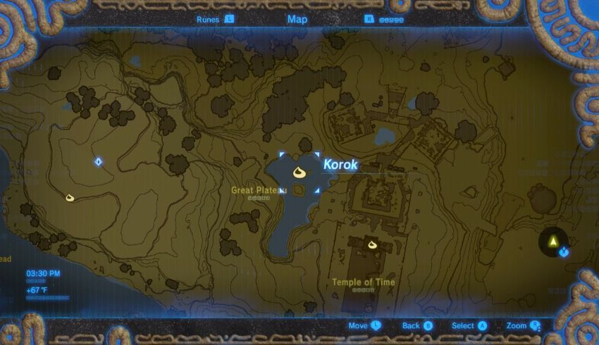 Posisi Map Korok Seed Great Plateau 18 Seed