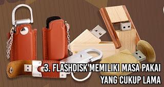 Flashdisk Memiliki Masa Pakai Yang Cukup Lama sehingga menjadi salah satu keuntungan menggunakan flashdisk untuk media promosi