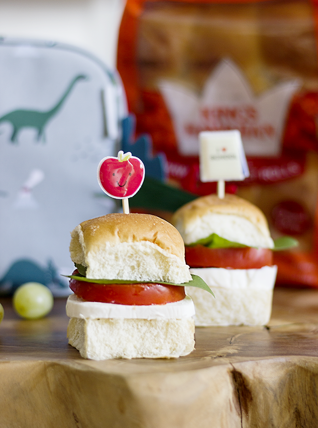 Dinner Roll Caprese Sandwiches