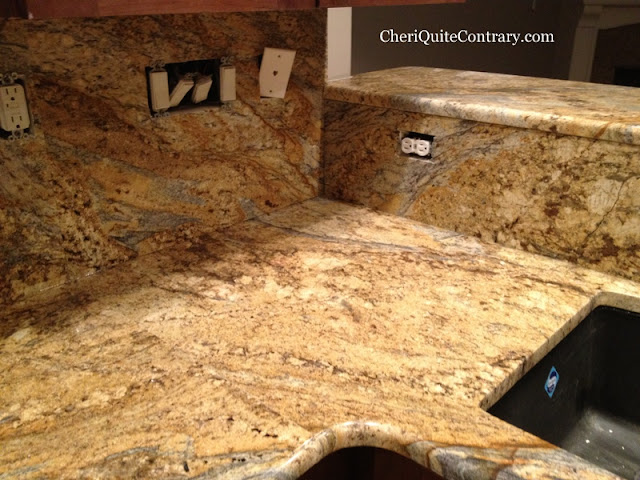 Cheri Quite Contrary House Building Yellow River Granite Is Installed