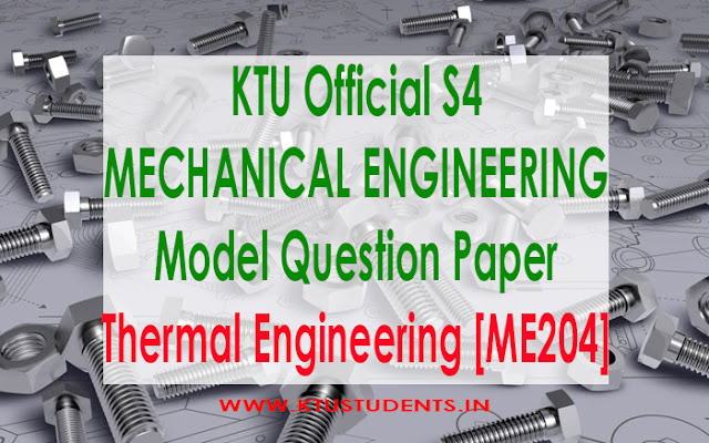 ktu Thermal Engineering [ME204] model qp