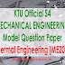 Model Question Paper:Thermal Engineering [ME204]
