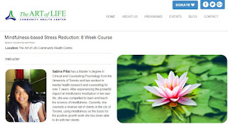 Mindfulness-Based Stress Reduction Course with Sabina Pillai, MA