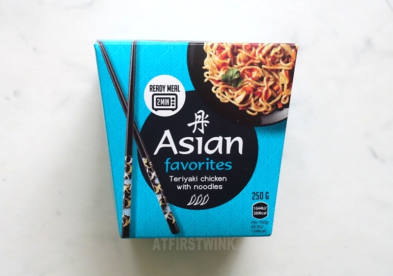 Asian favorites teriyaki chicken with noodles instant microwave box