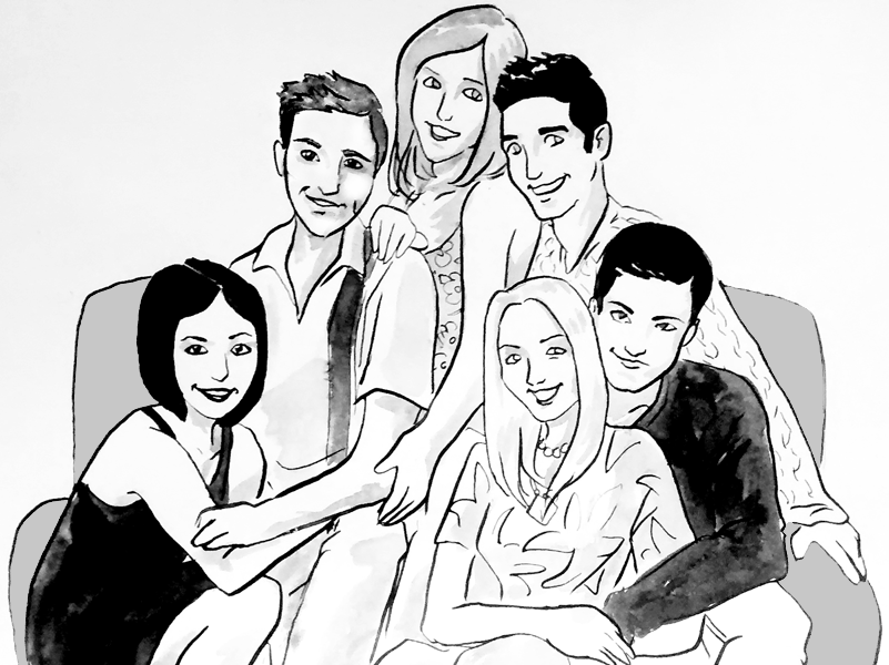 Friends Tv Show Pages Coloring Pages