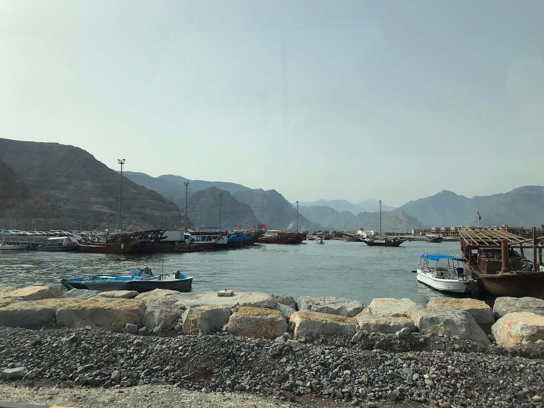 Porto de Khasab, Omã na Península Arábica