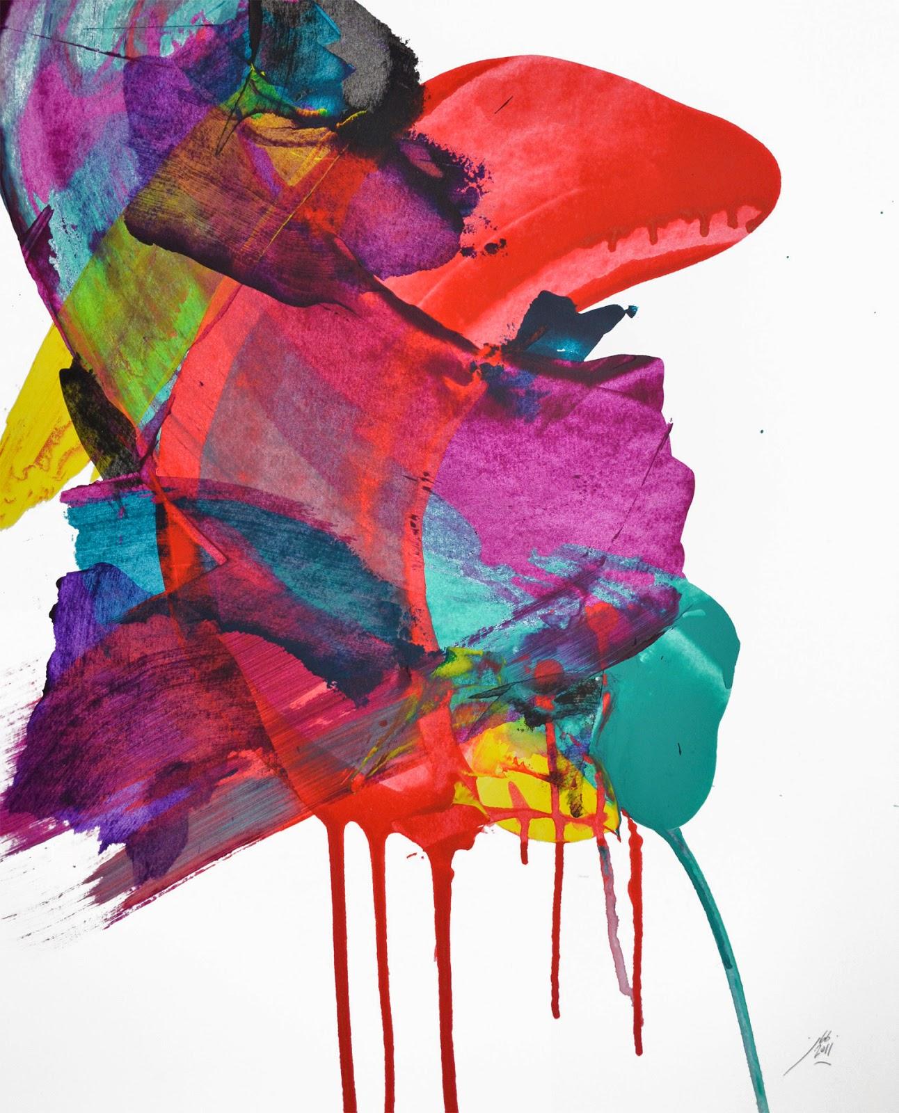 peinture papier abstraction jean baptiste besançon