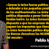 """Pablo Iglesias: """"Somos la única fuerza política patriota en España, la única que entiende que el patriotismo es la defensa del común""""."""