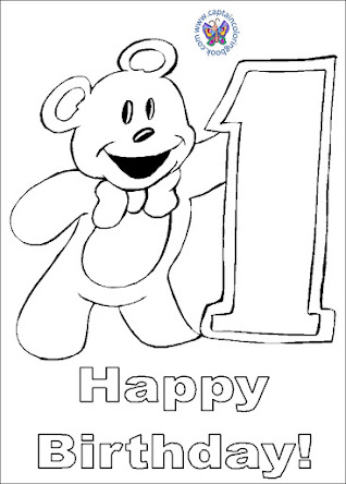 Teddy Bear Birthday Coloring Pages Click here To Download PDF
