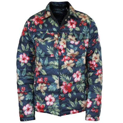 moncler floral dominica padded down coat
