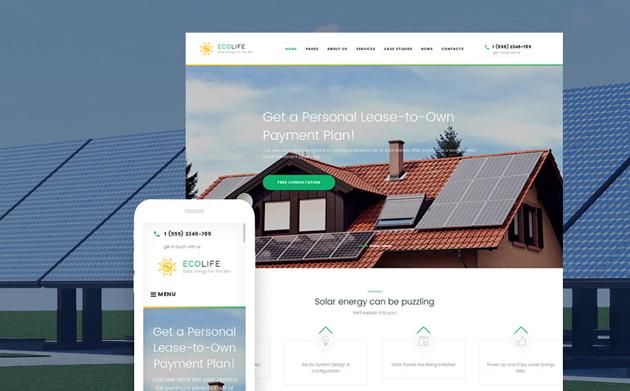 Best Solar Energy Business Website Theme
