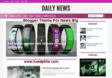 Blogger theme for News Blog