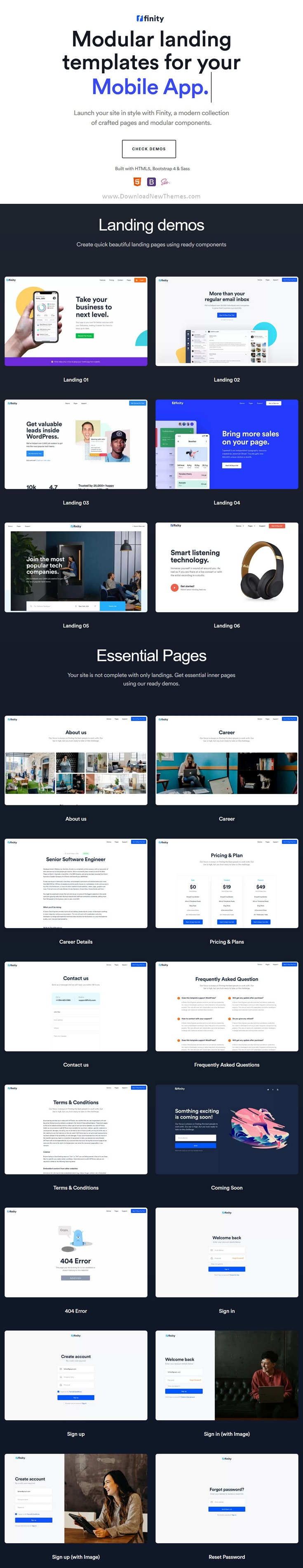 Landing Page Template for SaaS, Startup & Agency