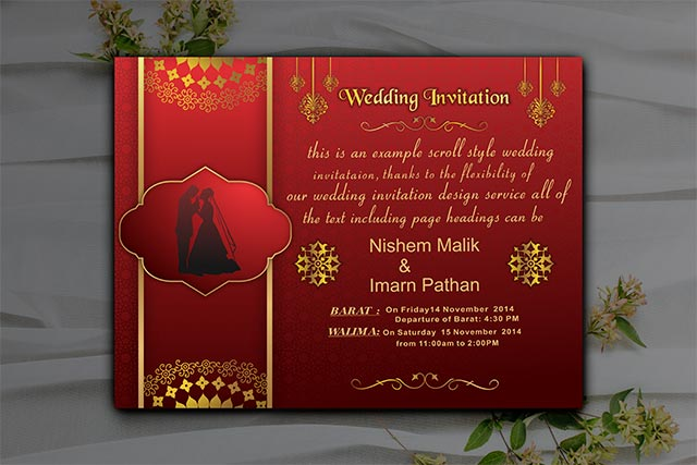 wedding card invitation template free