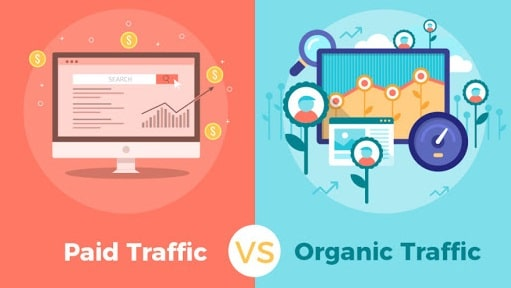 se organic vs non-organic traffic google search engine optimization sem vs ppc