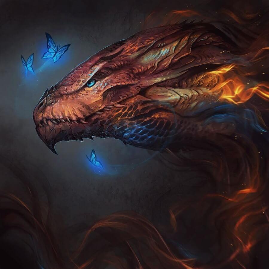 02-Fire-Dragon-Jonas-Jödicke-Digital-Art-www-designstack-co