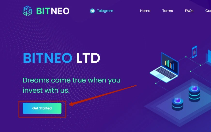 Регистрация в Bitneo