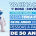 Com 9 óbitos em uma semana, Cidade de Goiás inicia vacinação de pessoas a partir de 50 anos nesta terça 08/06