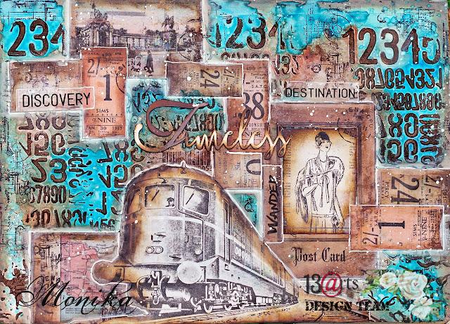 """Art Journal """"Pociąg"""" / Art Journal """"Train"""""""