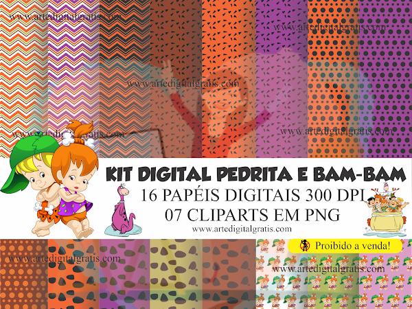 KIT DIGITAL PEDRITA E BAM-BAM GRÁTIS