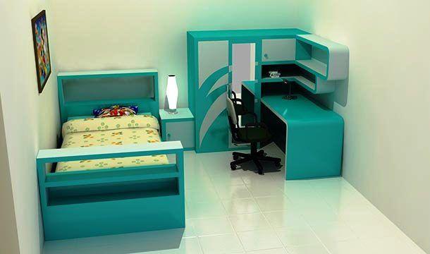 Desain Kamar Tidur Anak Laki-Laki Ukuran 3x3