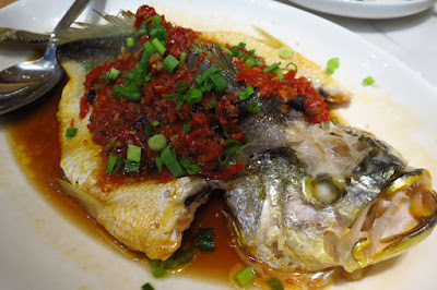 Putien, steamed yellow croaker chopped chillis