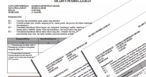 Silabus Mi Mapel Pai Dan Bahasa Arab Kurikulum 2013 Kelas 1 2 3 4 5 6 Revisi Format Microsoft Word Berkas Edukasi