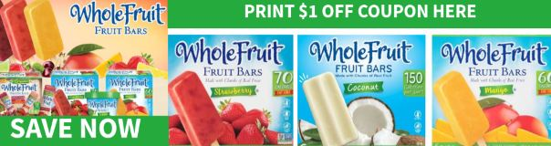 whole fruit bars coupon print here
