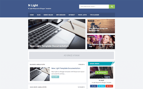 N light blogger template