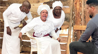 """Villagers In Joy As Toyin Abraham Shot """"PROPHETESS"""" Movie In Her Town [VIDEO]"""