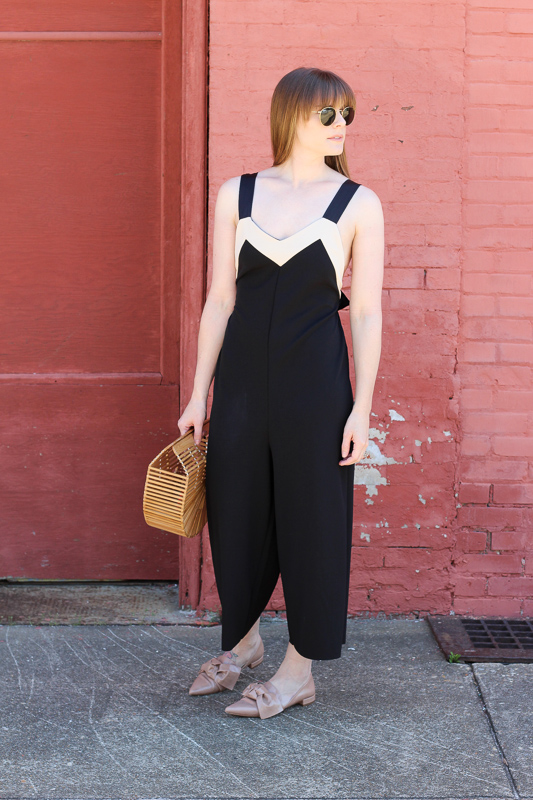how to style a black jumpsuit