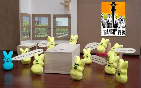 Twelve angry peeps, from the American Bar Association's Peeps in the Law contest