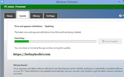 Update program antivirus
