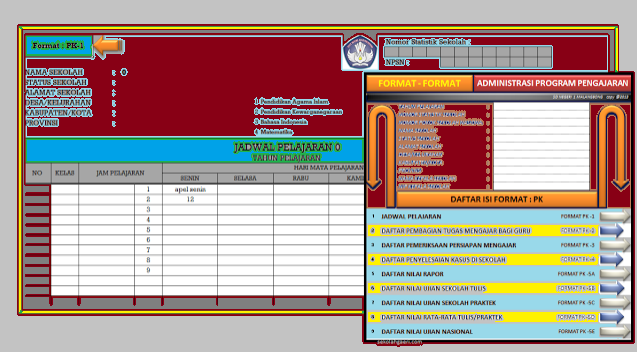 Download Aplikasi Administrasi Guru Lengkap Sd Smp Sma Terbaru Akademik Guru