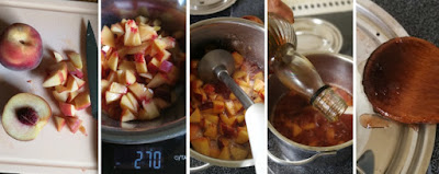 Zubereitung Pfirsich-Konfitüre mit Schuss