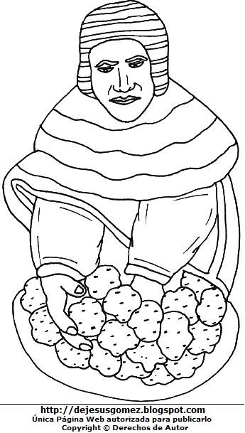 Imagen por el Día del campesino para colorear o pintar para niños  (Campesino en pleno trabajo). Dibujo del campesino de Jesus Gómez